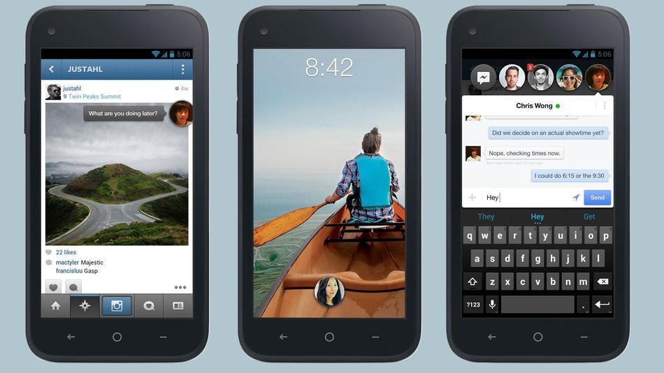 Facebook Home HTC First