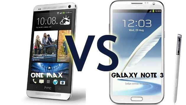Samsung Galaxy Note 3 vs. HTC One Max