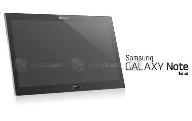 Samsung Note 12.2 tablet front panel