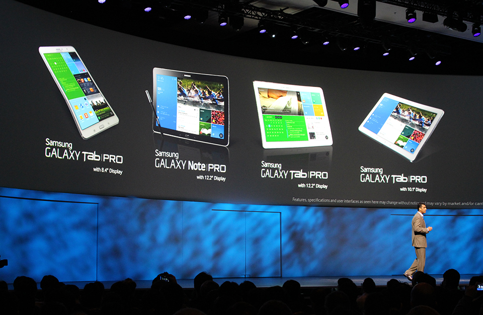 Samsung Galaxy Tab Pro and Note Pro