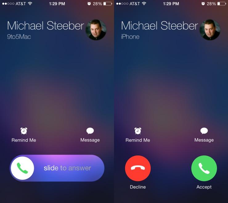 Как сделать на звонке на весь экран на айфоне 4