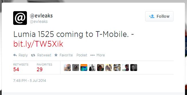 Nokia Lumia 1525 rumors