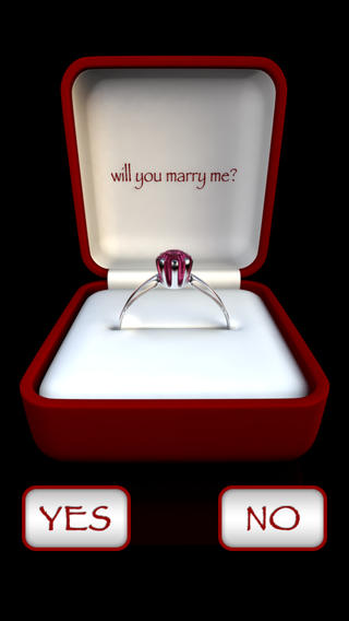 Will you marry me iphone app
