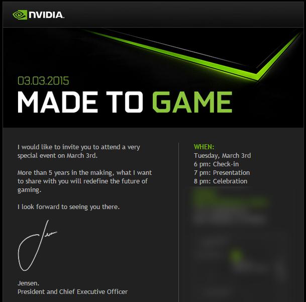 nvidia made to game invite