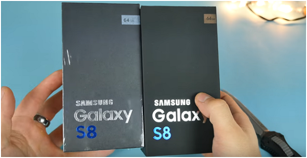fake galaxy s8 box