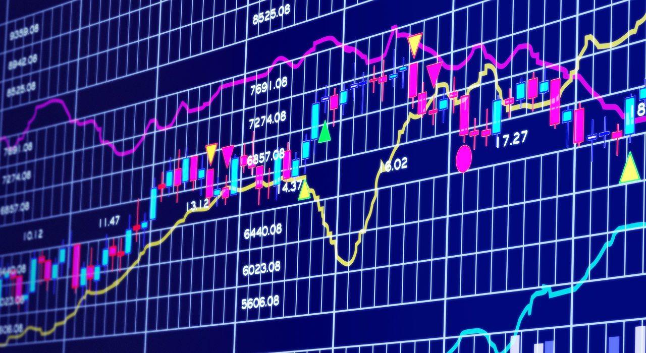 Stock market exchange graphics