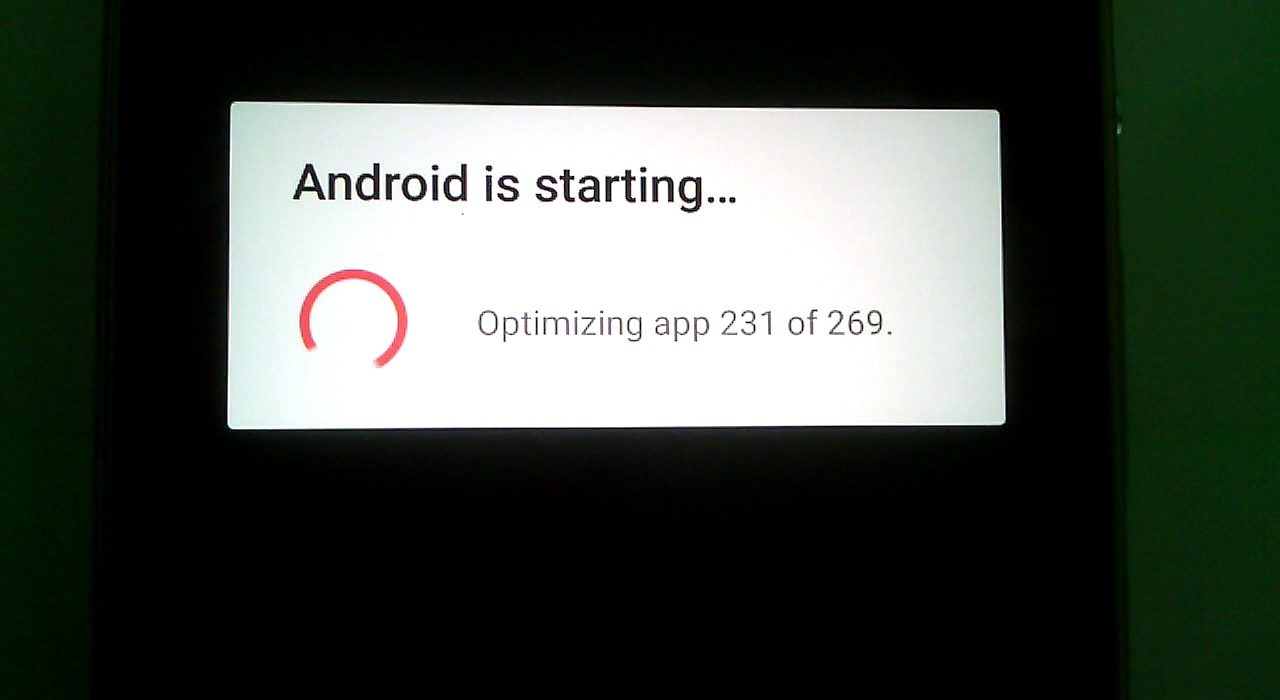 "How to get rid of the ""Android optimizing apps"" message"