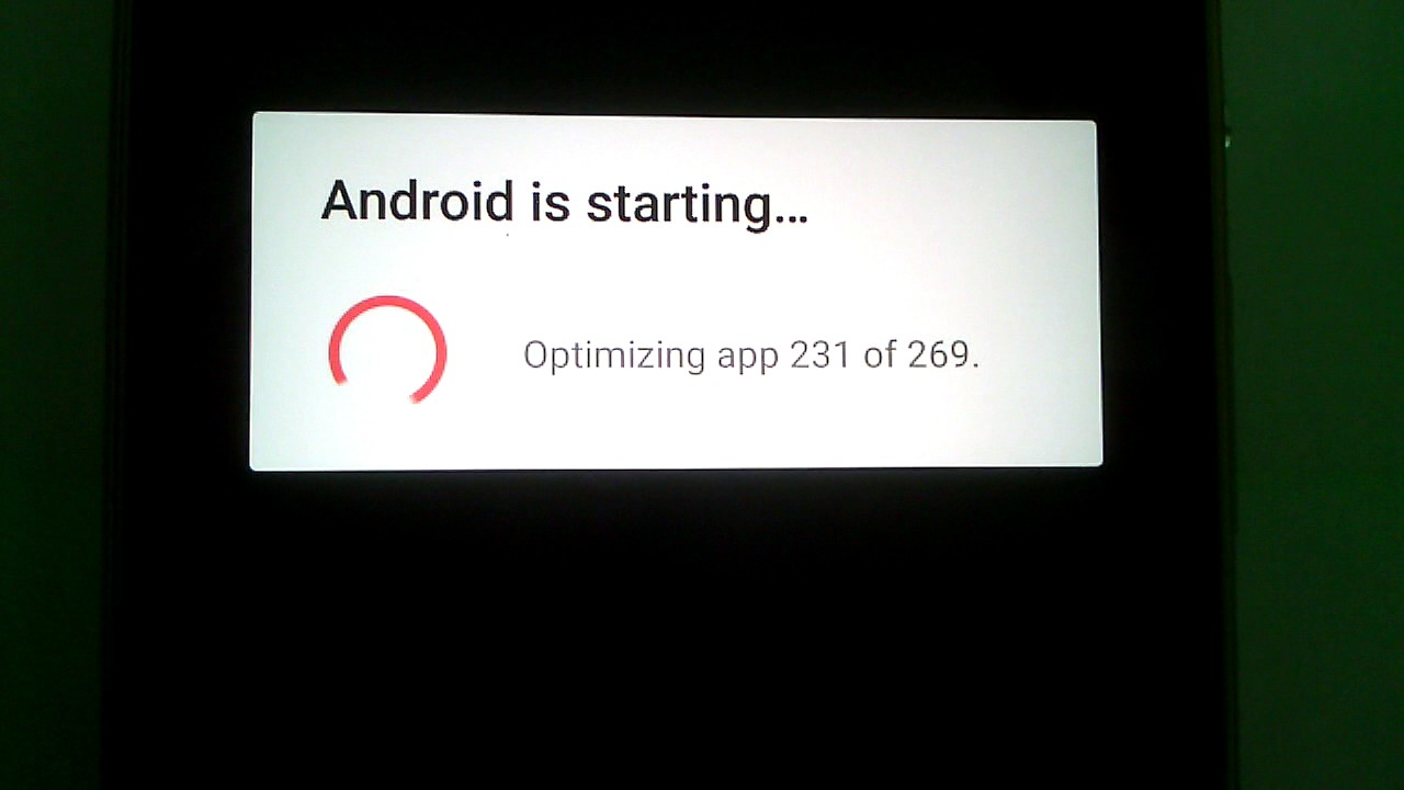 "How to get rid of the ""Android optimizing apps"" message quickly"