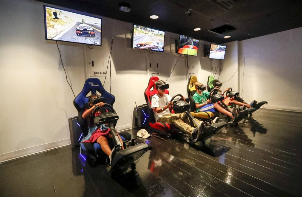 VR World NYC racing simulator