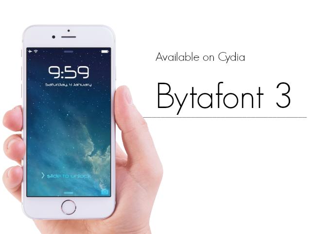 BytaFont 3 Cydia