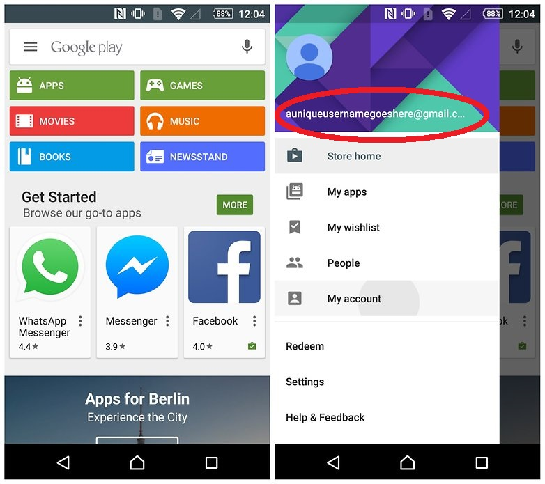 how to switch between google play accounts