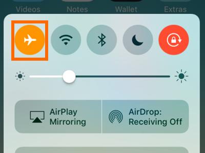 iPhone airplane mode