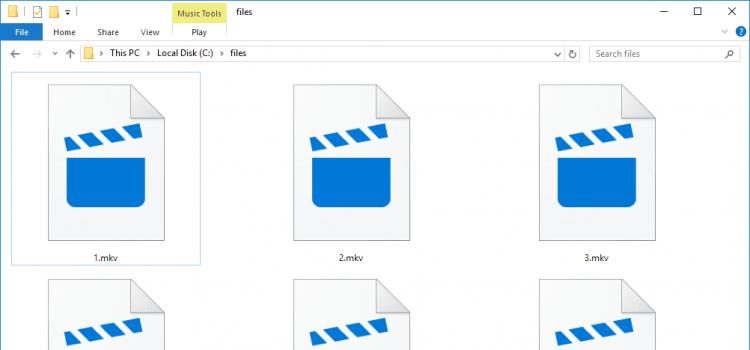 MKV files with no sound