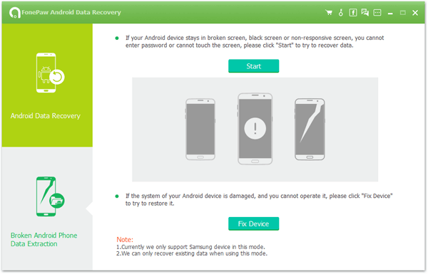 Android Data Recovery fix device