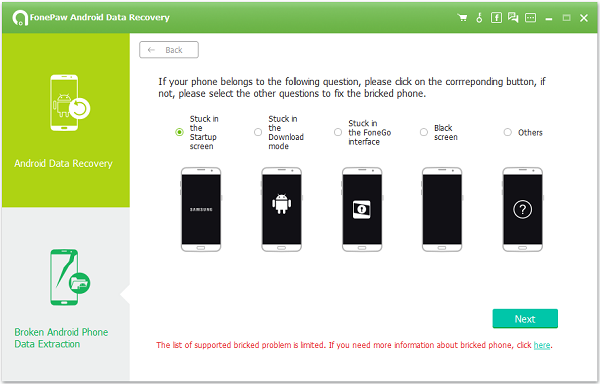 Android Data Recovery Select Case