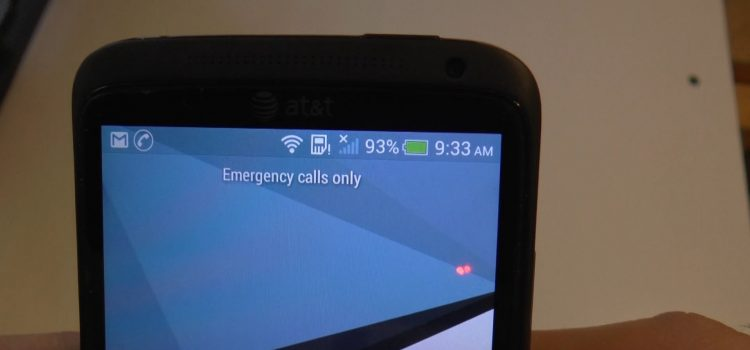 Phone says emergency calls only