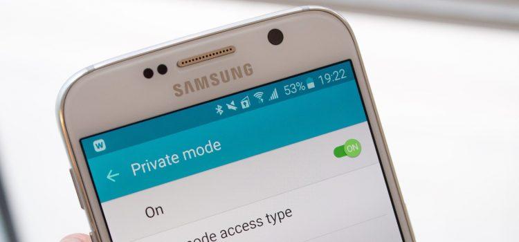 Samsung Private Mode