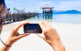Taking photos with a smartphone