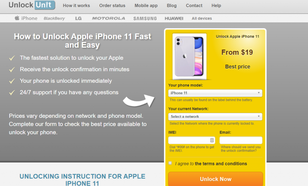unlock iphone 11